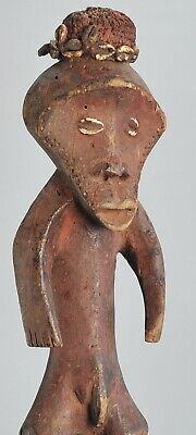 """ZIMBA people Fetish """"magical"""" Figure statue Congo Drc African Tribal Art 1036"""