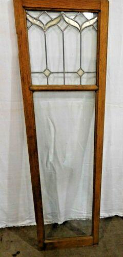 Antique~Salvage~  Oak  Cabinet Door with Leaded Glass  #2022
