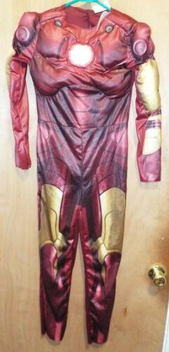 Iron Man Avengers Muscle 2008 Marvel Halloween Costume Size Child 10-12