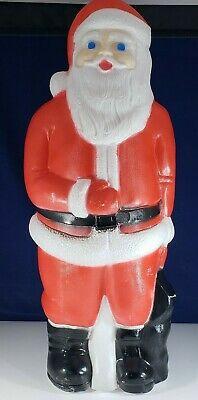 """Vintage Lighted Blow Mold SANTA CLAUS - 22"""" - Union Products - Yard Decor - USA"""