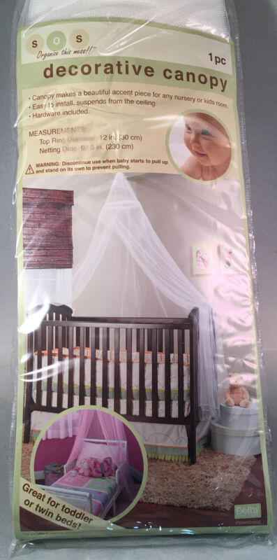 DELTA Decorative Canopy - Bedcover- Decor Curtain -Tent - Net - Bed Canopy