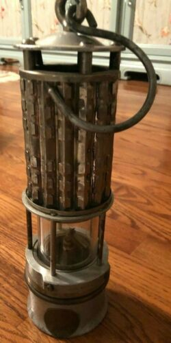 Antique Wolf Safety Lamp Co. Miners Lantern New York, USA