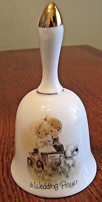 Precious Moments-A Wedding Prayer keepsake 1978 ceramic bell Bride & Groom (A Wedding Prayer)
