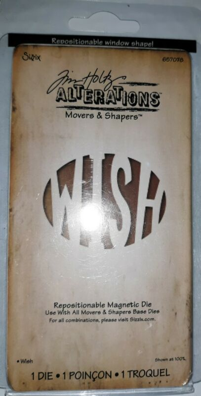 Sizzix Tim Holtz Movers & Shapers Wish Magnetic Cutting Die RARE  NEW