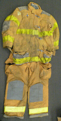 Firefighter Set Jacket 46x35 Pants 46x30 Suspenders Turn Out Gear Janesville S47