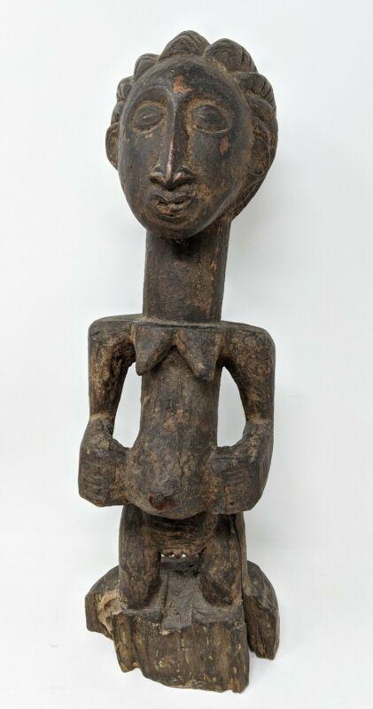 Antique Kemba Sculpture, Carved Fertility Figure Congo, Africa