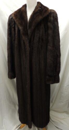 Rare Christian Dior Fourrure by Avanti Deep Brown Long Mink Fur Coat L XL