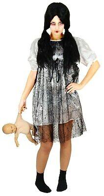 weißes Horror Puppen Kleid Halloween Kostüm Damen Zombie - Kostüm Halloween Zombie