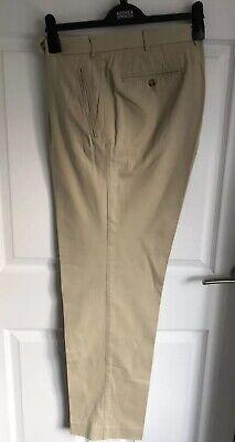 Men's Cream/Beige Hiltl Dress Trousers/Chinos - Size 46 UK (size 56)