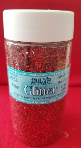 Sunlyn 8. oz  Red Glitter