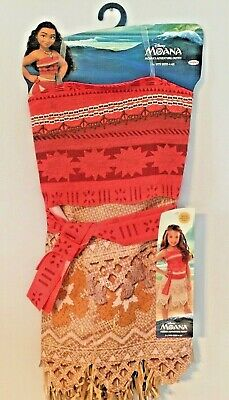 Dress Up Sale (Disney Dress Up Moana Girls Adventure Fun Outfit Size 4-6x Brand New/WT)