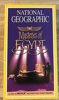 National Geographic Mysteries of Eygpt VHS Tape