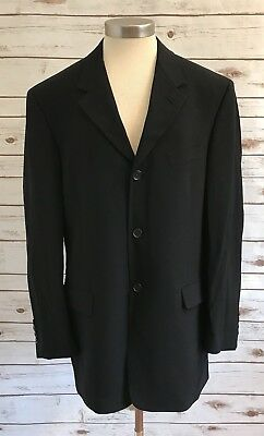 KENNETH COLE Men Fully Lined Three Button Down Black Blazer Suit Jacket ()