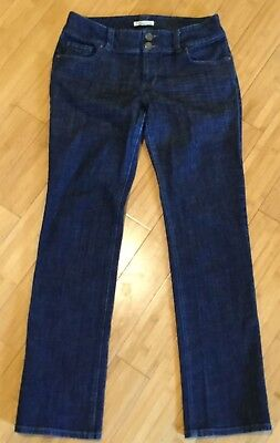 CAbi Jeans 201 Cute Lou Lou Dark Wash Denim Slim Straight Leg Jeans Size 10, used for sale  Redding