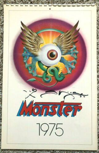 "Stanley Mouse autographed ""Monsters"" calendar, 1975"