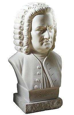 Komponist Bach Büste Figur aus Alabastergips 22 cm, weiß