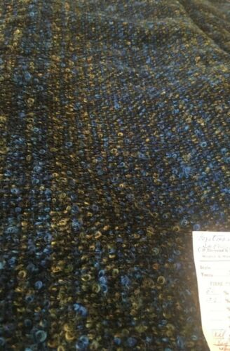"""VTG Wool sewing fabric Blue Green poodle blend 60""""x 2 6/8 yd"""