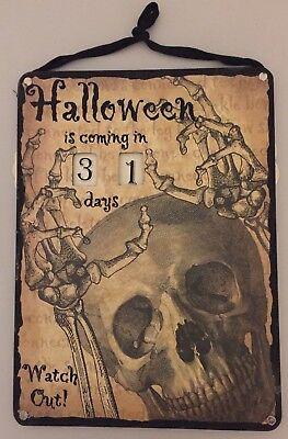 HALLOWEEN Skeleton Count Down  Calendar Wall Hanging 11