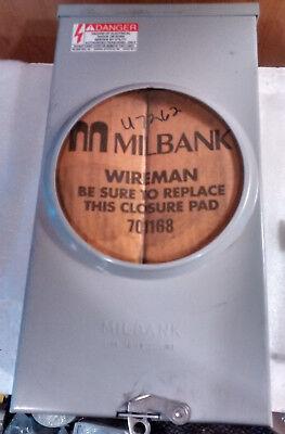 Milbank U7262-rl-tg Ringless Meter Socket 600v 150a 1 Phase 4 Terminal Surface M