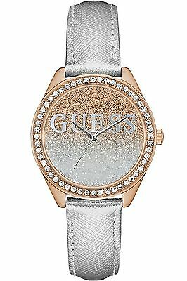 Guess Women's Dress,Stainless Steel,Gold-Tone,Crystal Accented Bezel W0823L7