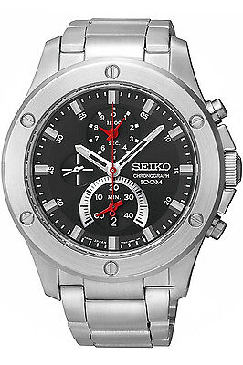 SEIKO SPC095P1,Men's CHRONOGRAPH,STAINLESS STEEL,date,100m WR,SPC095