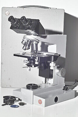Leitz Sm-lux Microscope Polarized Light - Nice Zeiss 25x Plan Apo - Serviced