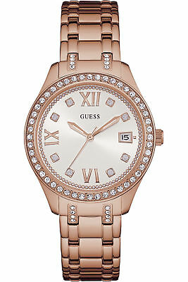 BRAND *NEW* LADIES NEW GUESS ROSE GOLD DRESS WATCH W0848L3