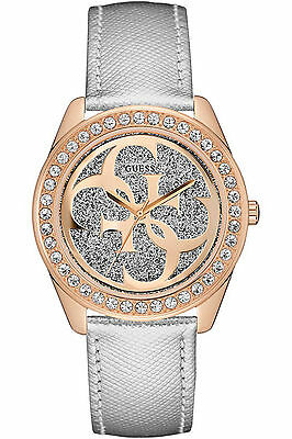 Guess Women's Stainless Steel Case,Rose Gold-Tone,Crystal Accented Watch W0627L9