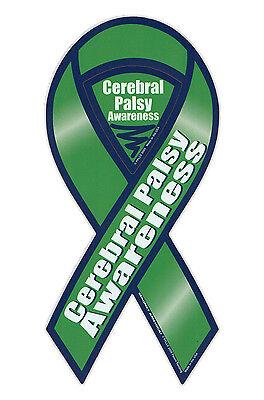 Cerebral Palsy Ribbon (Magnetic Bumper Sticker - Cerebral Palsy Awareness - Ribbon Support)
