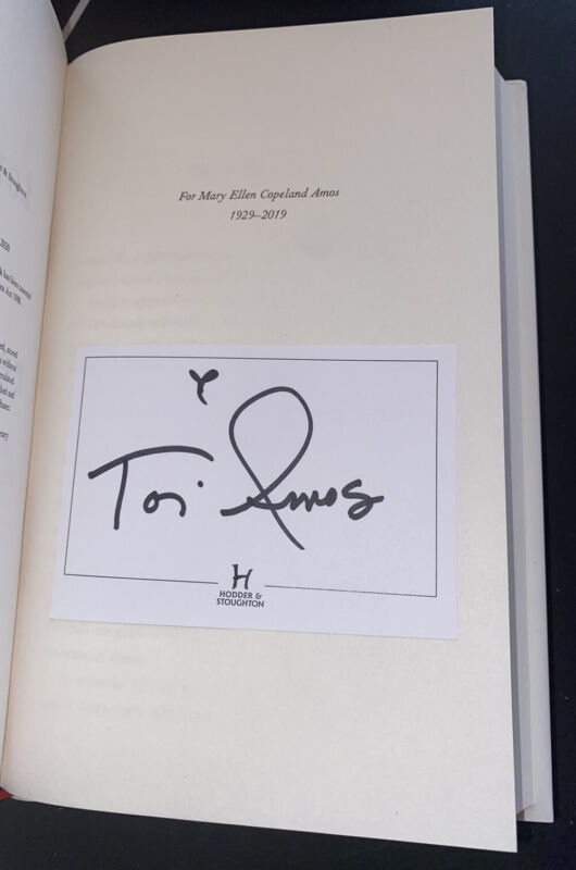 Tori Amos Signed Book Resistance