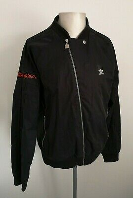 Mens Adidas x Vespa Black Bomber Jacket - Size Large