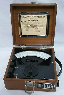 Vintage Sensitive Research Instrument Corp Dc Milliammeter S Collector Quality