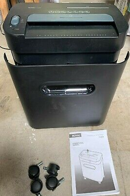 Royal 112mx 12-sheet Cross Cut - Paper Cd-rom Shredder Black 12 Sheet
