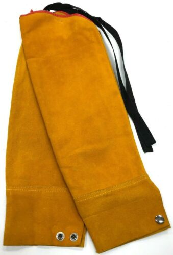 Leather Welding Sleeves Pair, 23in., Yellow