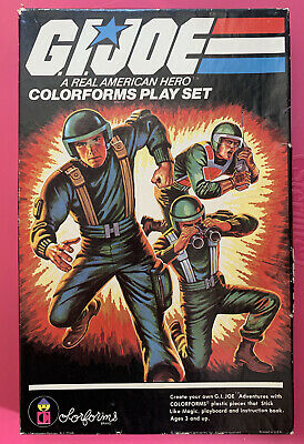 Vintage GI Joe Colorforms Army Military Soldier Toy Play Set 1982 in Box VTG 80s