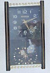Vintage Wooden Old Pendulum Wall Clock Master Brand With Original Key