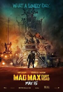 Mad Max Fury Road Movie Silk Cloth Poster 36 x 24