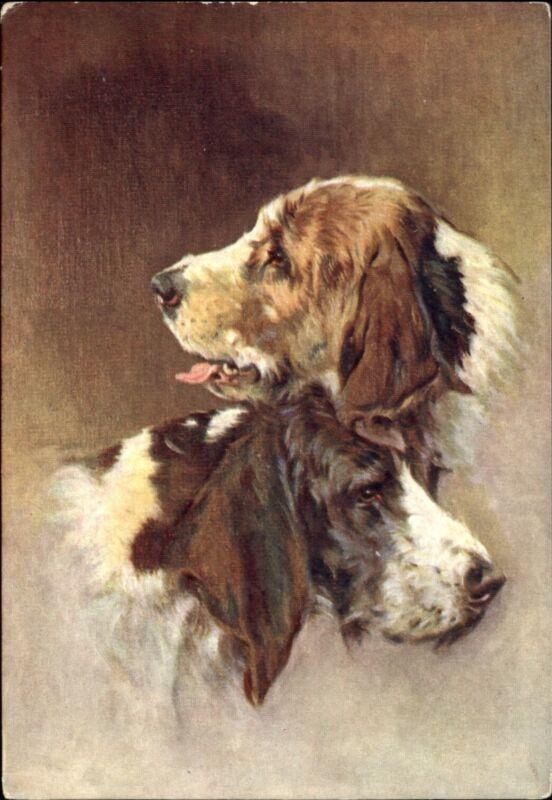 OTTER HOUND dogs~De Reszke Cigarette advertising postcard ~ embossed