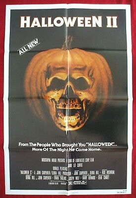 L FOLDED MOVIE POSTER SLASHER 1981 PUMPKIN JAMIE LEE CURTIS  (Halloween Original-poster)