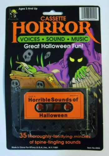 NEW/OPEN - Horrible Sounds of Halloween Cassette Tape - Voices / Sound / Music
