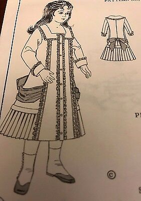 "18-19""ANTIQUE  GERMAN  FRENCH JUMEAU BEBE BRU JNE  DOLL DRESS PATTERN"