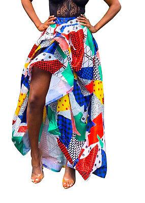Women Digital Print Elastic Waist  Casual Cocktail Party Irreguler Bubble Skirt ()