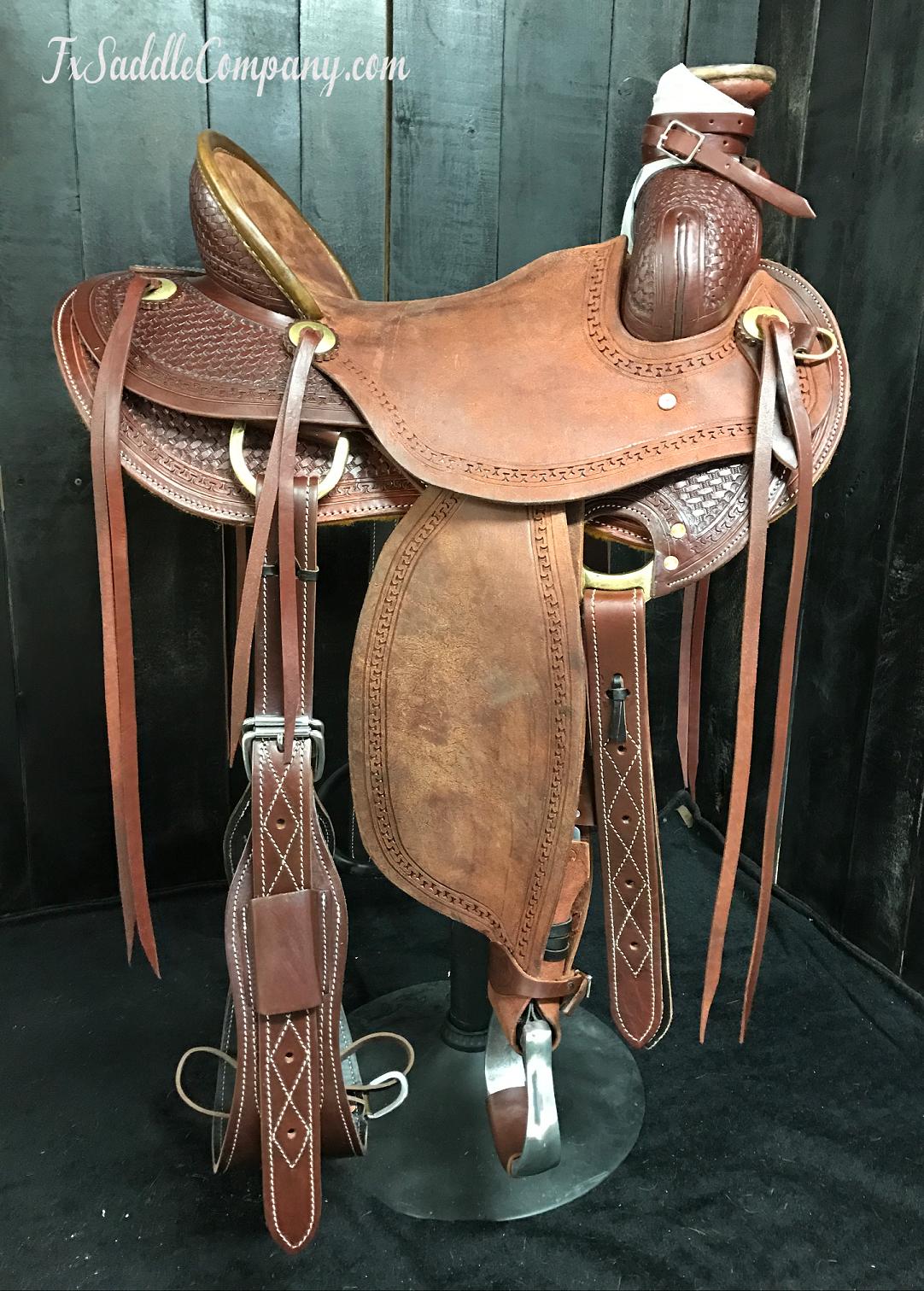 Custom Association Roping Saddle - Ranch/Wade/Training