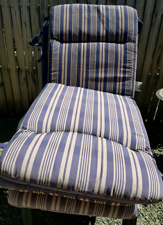 Four Outdoor chairs with reversible cushions