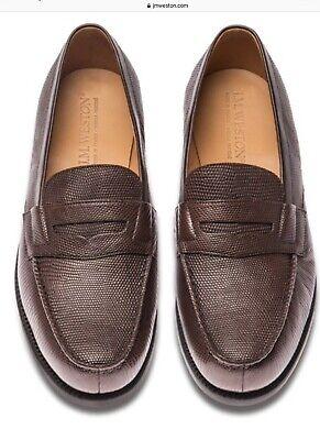 J.M.Weston Lizard Brown Shoes , Size 10.5E