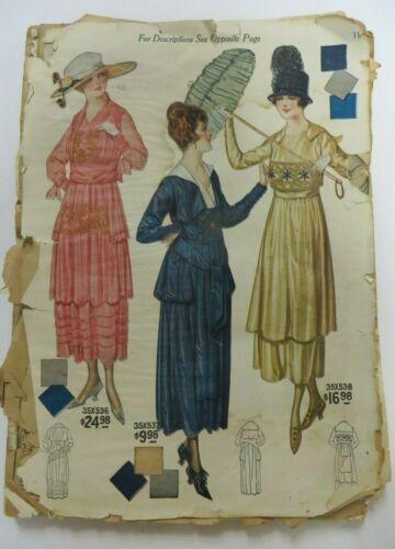 Vtg Spring-Summer 1918 BELLAS HESS & CO Catalog New York City Fashion Antique