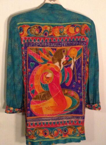 PLATINUM Blazer JACKET M Dress PANT L 14 Suit Coat Slacks Set DOROTHY SCHOELEN