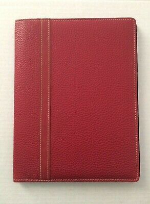 Franklin Covey Day One Red Simulated Leather Polkadot Wirebound Cover 10 Euc
