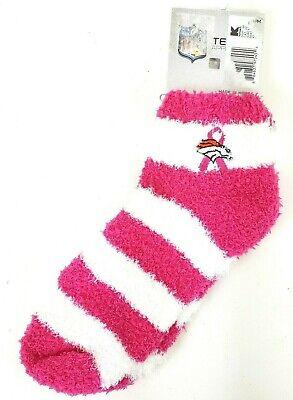 Denver Broncos NFL Football Breast Cancer Survivor Cozy Socks Womens Medium 6-11](Breast Cancer Football Socks)