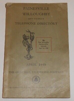 1949 Telephone Directory / Phone Book Painesville / Willoughby, OHIO BELL OH